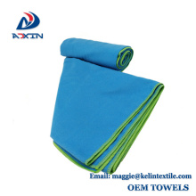 Quick drying 30x60inch 200gsm microfiber suede beach towel wholesale