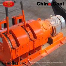 Torno eléctrico horizontal del raspador de la explotación minera del tambor doble 2jpb-30 para tirar