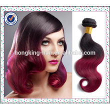 colorido dois tons ombre mergulho tingir remy cabelo tecer