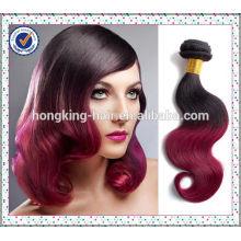 цветные два тона ombre DIP краска волос Remy ткать