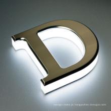 Letras iluminadas do diodo emissor de luz do acrílico do sinal do diodo emissor de luz das letras 3D Letras acrílicas do diodo emissor de luz do acrílico do sinal das letras do diodo emissor de luz para o sinal da loja do diodo emissor de luz