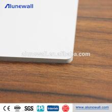 Painel composto de alumínio à prova de fogo da textura do metal acp para o revestimento interno da parede