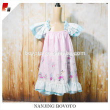 Pink balloon printed dress cotton girls