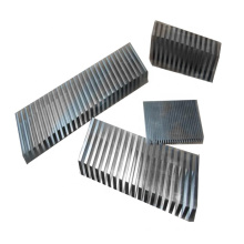Wave metal aluminum fins for intercooler
