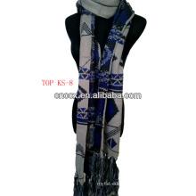 2016 fashion100% acrylic jacquard snow knitted scarf fashion scarf christmas scarf