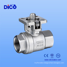 2PC Thread Ball Valve with New Mounting Pad