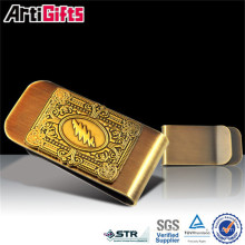 High Quality Metal Crafts mens customize currency money clip