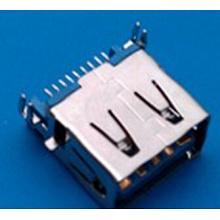 Женский 9-контактный вилочный разъем типа USB 3.0