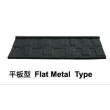 Telha de metal revestido de pedra (tipo de metal plano)