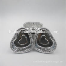 disposable small Egg Tart Cups in heart shape