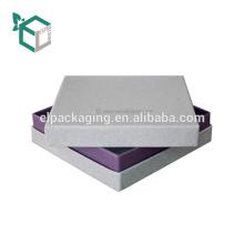 Boîte rigide de luxe de texture cosmétique d'emballage blanc de carton