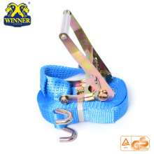 Certification Industrial Polyester Webbing Tie Down Ratcheting Strap