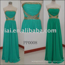 simple beaded elgant Chiffon Evening Dress long