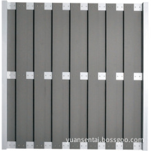 Weather Resistant WPC Garden Fence with Aluminum Post (YAW-057)