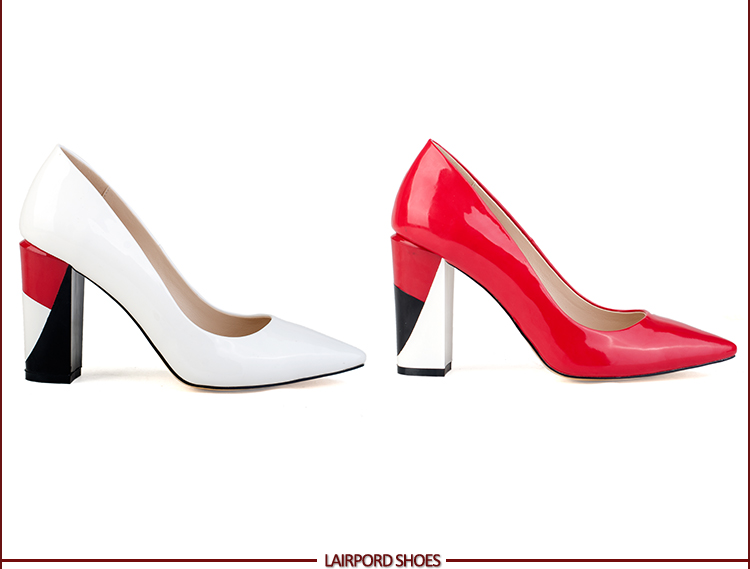 red women elegant shoes