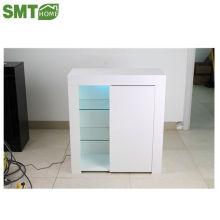 Гостиная сторона шкаф хранения 16 мм глянцевый многоцветный светодиодный свет