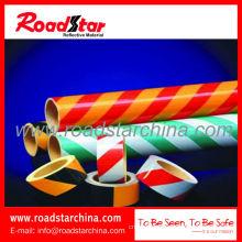 Commercial grade reflective slant stripe