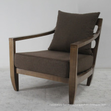 Solid Wood with Linen Fabric Comfortable Sofa Chair