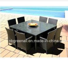Todo el tiempo patio comedor Rattan jardín muebles de exterior
