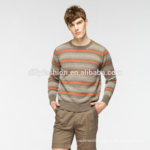Fashion ungly christmas O neck cashmere knit sweater for men