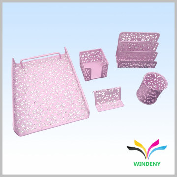 Suporte de mesa de escritório Yiwu mercado de metal de ferro escritório papelaria presente conjunto