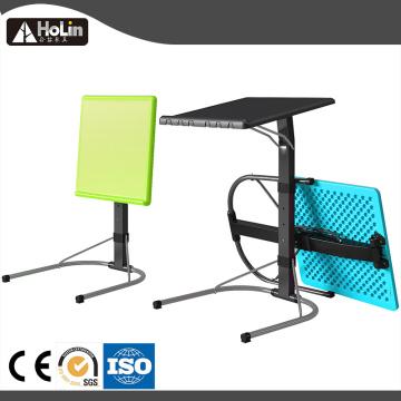 Регулируемый по высоте портативный складной боковой столик для ноутбука