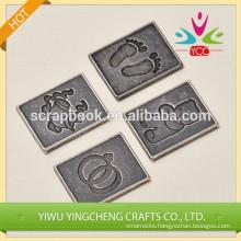 iron thin metal sticker embossed sticker
