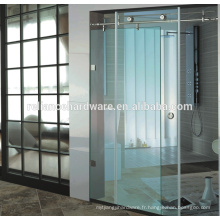 Accessoires de matériel de salle de douche en verre coulissante d'acier inoxydable 304 avec le deliery rapide