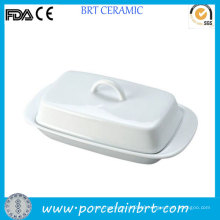 Special White Covered Porcelain Butter Dish