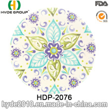 Assorted Design BPA Free Bamboo Fiber Salad Plate (HDP-2076)