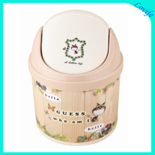 Fashionable Cartoon Printed Plastic Storage Bucket (FF-5012-1)