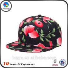 2013 adjustable embroiery flat leather brim floral fabric snapback hat&cap