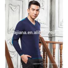 2016 мода мужская V шеи кашемировый свитер