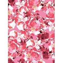 Tissu en nylon de couleur rose utilisé pour le maillot de bain et le vêtement de sport (ASQ071)
