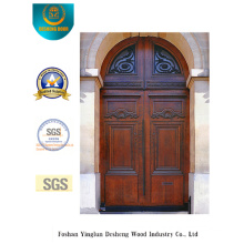 Classic European Security Steel Door with Carving and Glass (m2-1009)