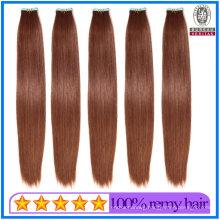 New Arrival Full Cuticles Human Hair Virgin Hair 30# Auburn Color 18inch 100g Weight Tape Hair Extension Remy Hair