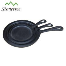 Mini poêle en fonte à huile végétale ronde de haute qualité HF01