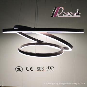 Three Round Decorative Aluminum Acrylic Globe Track Pendant Lamp