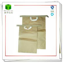 Hand-Naht-Unterseite Kraftpapier-Beutel für Eisen-Oxid-Gelb