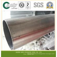 Tubo de aço inoxidável quadrado redondo sem costura 300 Series