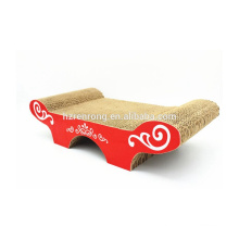 Produits naturels multifonctionnels de chat de sofa de carton / Scratcher SCS-7014 de chat