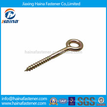 China manufacturer zinc plated carbon steel eye wood screw
