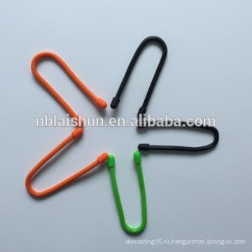 2015 Рекламный силиконовый резиновый кабельный стяжок / галстук с силиконовой гайкой / резиновый силиконовый твист-галстук