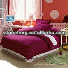 Manta de cama de impresión 100% algodón extendida / ropa de cama