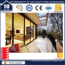 8mm vidrio templado corredera puerta de vidrio con CE & ISO9001