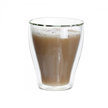 250ml Handmade Double Wall Glass Cup For Coffee