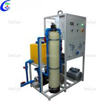 Sistema subterrâneo de dessalinização da água do poço de sal do RO