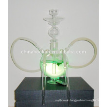 GH059-LT clear glass hookah shisha/nargile/water pipe/with led light