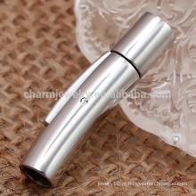 BXG003 Brilhante 2/3/4/5/6/7 / 8mm 316l Fivela de aço inoxidável Snap / baioneta para cordão de couro DIY jóias Apreciação