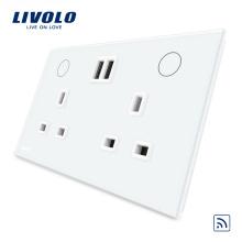 Livolo Smart Home Remote 13A Double Prise USB UK VL-W2C2UKRU-11